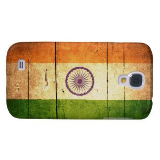 Wooden Indian Flag Samsung Galaxy S4 Case