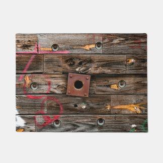 Wooden Industrial Wire Spool Doormat