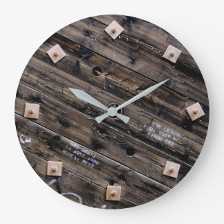 Wooden Industrial Wire Spool Large Clock