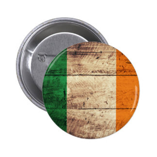 Wooden Ireland Flag Pins
