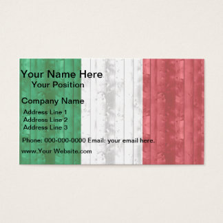 Wooden Italian Flag Business Card