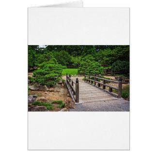 Wooden Japanese Bridge Card