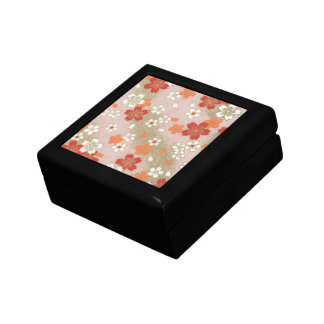 Wooden Japanese Floral Pattern Jewelry Box