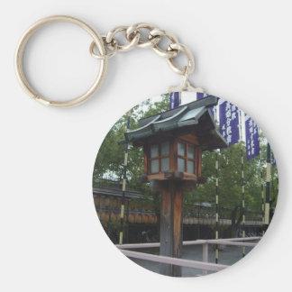 Wooden Japanese Shrine Lantern Keychain