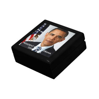 Wooden Jewelry Keepsake Box PRESIDENT OBAMA