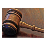 Wooden Judge's Gavel Business Card