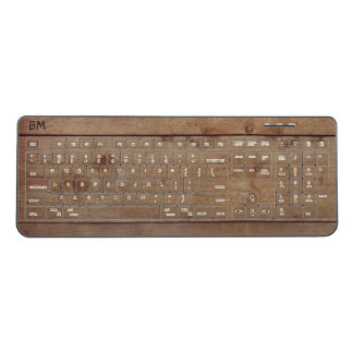 """Wooden"" Keyboard with (or without) Initial(s)"