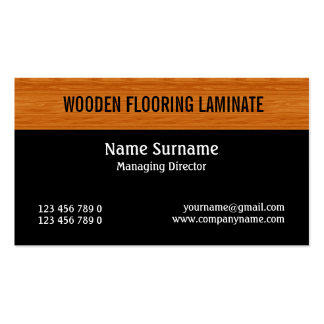 Wooden laminate wood flooring PERSONALIZE Double-Sided Standard Business Cards (Pack Of 100)