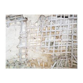 Wooden Lattice Canvas Prints