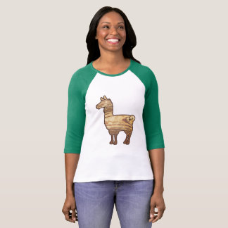 Wooden Llama Ladies 3/4 T-Shirt