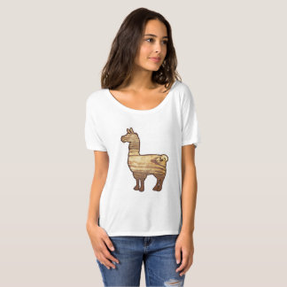 Wooden Llama Ladies Slouchy T-Shirt