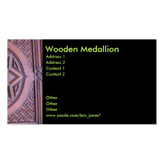 Wooden Medallion Business Card Templates