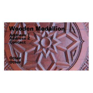 Wooden Medallion Business Cards