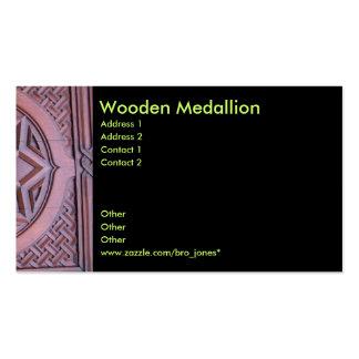Wooden Medallion Pack Of Standard Business Cards