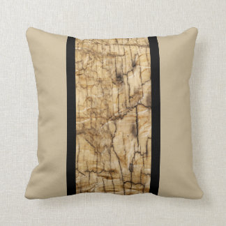 Wooden Motif accent Black and Tan Cushion