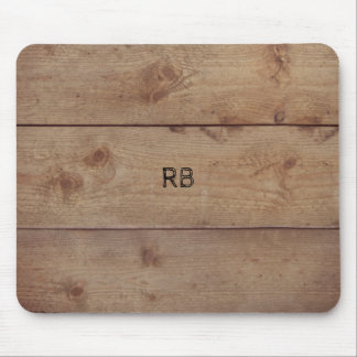 """Wooden"" Mousepad with (or without) Initial(s)"
