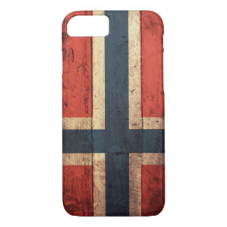 Wooden Norway Flag iPhone 7 Case