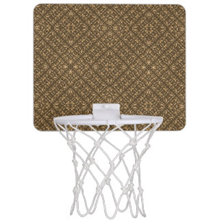 Wooden Ornamented Pattern Mini Basketball Hoop