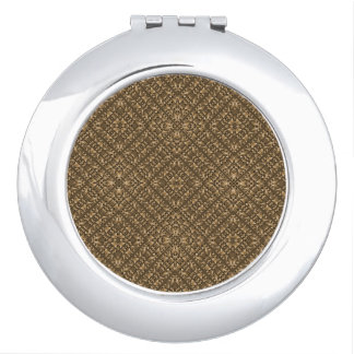 Wooden Ornamented Pattern Mirrors For Makeup