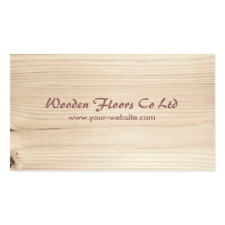 Wooden Pack Of Standard Business Cards