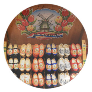 Wooden painted clogs, Holland 2 Plates