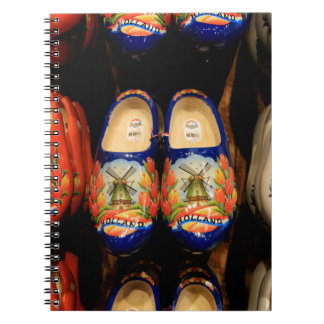 Wooden painted clogs, Holland Notebook