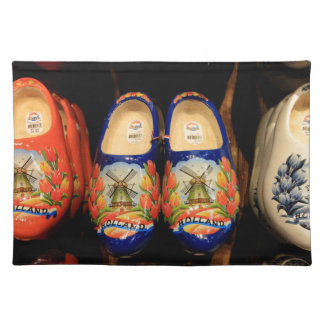 Wooden painted clogs, Holland Placemat