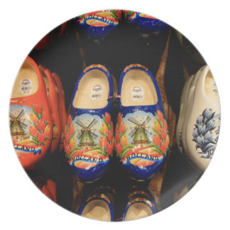 Wooden painted clogs, Holland Plates