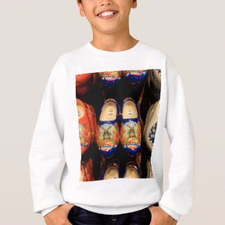 Wooden painted clogs, Holland Sweatshirt