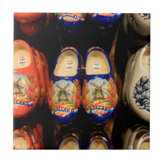 Wooden painted clogs, Holland Tile
