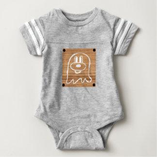 Wooden Panel 鬼 鬼  Baby Football Suit 1 Baby Bodysuit