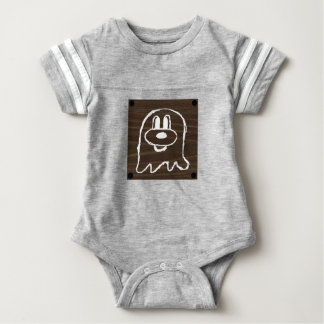 Wooden Panel 鬼 鬼 Baby Football Suit 3 Baby Bodysuit