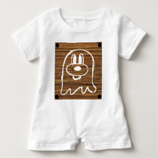 Wooden Panel  鬼 鬼 Baby Romper 2 Baby Bodysuit