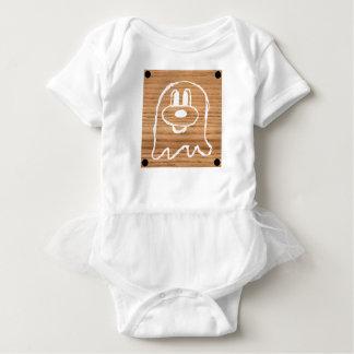 Wooden Panel 鬼 鬼 Baby Tutu Bodysuit 1