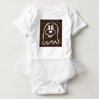 Wooden Panel 鬼 鬼 Baby Tutu Bodysuit 3