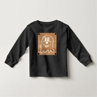 Wooden Panel 鬼 鬼 Toddler Long Sleeve T-Shirt 1