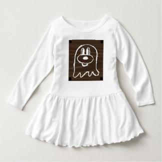 Wooden Panel 鬼 鬼 Toddler Ruffle Dress 3