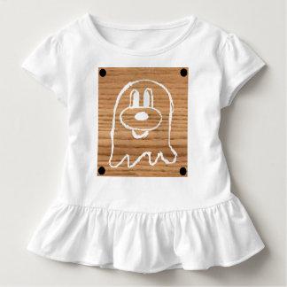 Wooden Panel 鬼 鬼Toddler Ruffle Tee 1