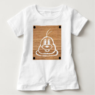Wooden Panel 鮑 鮑 Baby Romper 1 Baby Bodysuit