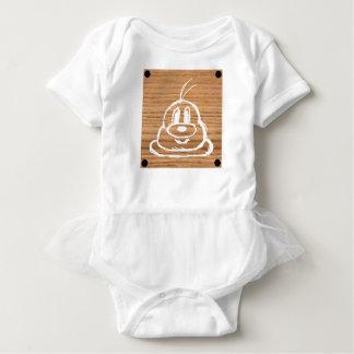 Wooden Panel 鮑 鮑 Baby Tutu Bodysuit 1