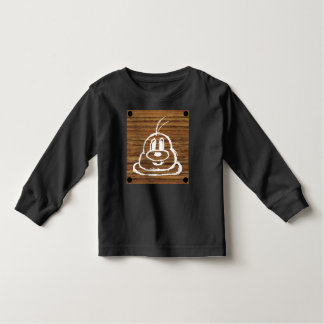 Wooden Panel 鮑 鮑 Toddler Long Sleeve T-Shirt 2