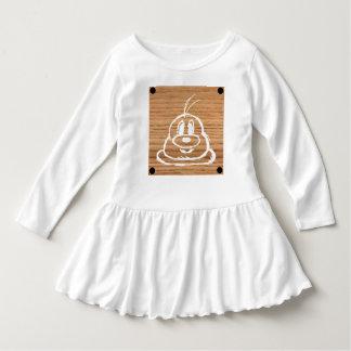 Wooden Panel 鮑 鮑 Toddler Ruffle Dress 1
