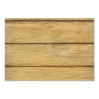 Wooden Panel Texture 3.5x5 Paper Invitation Card