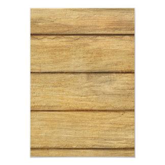 Wooden Panel Texture Custom Invitations