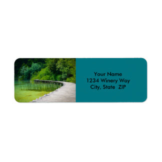 Wooden Path in the Forest in Plitvice Croatia Return Address Label