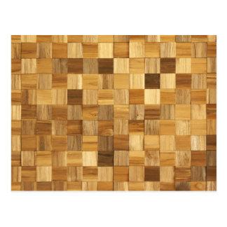 Wooden pattern postcard