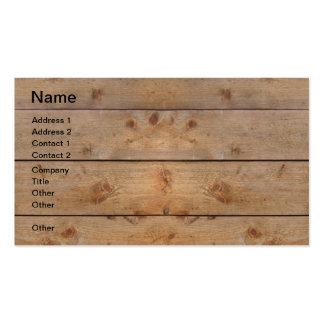 Wooden Planks Business Card Templates