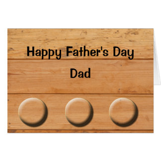 Wooden Planks Father's Day Card