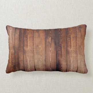 Wooden Planks Lumbar Cushion