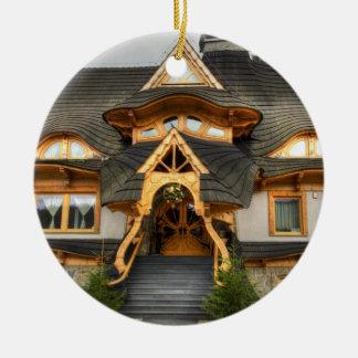 Wooden Polish House In Zakopane Ceramic Ornament